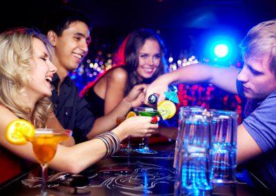 Friends in bar